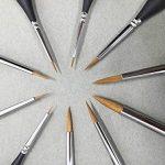 10 Pcs Best Professional Detail Paint Brush, les brosses à miniatures de haute qualité garderont un bon point et un ressort, pour l'aquarelle, l'huile, l'acrylique, les ongles et les modèles de la marque GP image 4 produit
