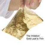 100 Feuilles Imitation Feuille d'Or pour les Arts, la Création de Dorure, la Décoration, 14 par 14 cm de la marque Bememo image 4 produit