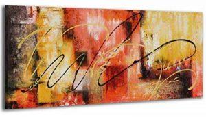 100% TRAVAIL FAIT À LA MAIN + certificat | 115x50 cm | Le tableau est dessiné par les couleurs acryliques | Abstraction | tableaux sur la toile avec sous-cadre en bois naturel | tableau fait à la main | fixation murale pratique | Art contemporain de la ma image 0 produit