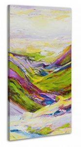 100% TRAVAIL FAIT À LA MAIN + certificat | 115x50 cm | Le tableau est dessiné par les couleurs acryliques | Vallée des désirs | tableaux sur la toile avec sous-cadre en bois naturel | tableau fait à la main | fixation murale pratique | Art contemporain de image 0 produit