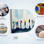 100% TRAVAIL FAIT À LA MAIN + certificat   130x70 cm   Le tableau est dessiné par les couleurs acryliques   Barcelone   tableaux sur la toile avec sous-cadre en bois naturel   tableau fait à la main   fixation murale pratique   Art contemporain de la marq image 3 produit