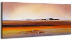 100% TRAVAIL FAIT À LA MAIN + certificat / Le tableau est dessiné par les couleurs acryliques Aube / tableaux sur la toile avec sous-cadre en bois naturel / tableau fait à la main / fixation murale pratique / Art contemporain / 115x50 cm de la marque YS-A image 0 produit