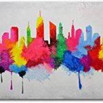 100% TRAVAIL FAIT À LA MAIN + certificat / Le tableau est dessiné par les couleurs acryliques Bonne humeur / tableaux sur la toile avec sous-cadre en bois naturel / tableau fait à la main / fixation murale pratique / Art contemporain / 115x50 cm de la mar image 1 produit