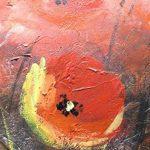 100% TRAVAIL FAIT À LA MAIN + certificat | Le tableau est dessiné par les couleurs acryliques Vallée des fleurs | 115x50 cm | tableaux sur la toile avec sous-cadre en bois naturel | tableau fait à la main | fixation murale pratique | Art contemporain de l image 2 produit