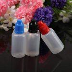 12 pcs Flacons Compte-gouttes, KAKOO 30ml Bouteilles liquides Fiole vide en plastique avec entonnoire gobelet gradué pour e-liquides,DIY craft de la marque KAKOO image 3 produit