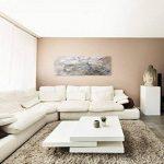 120x 40cm Panorama abstraite impression sur toile d'art Tableau Gris Noir Blanc Traînées de la marque Paul Sinus Art image 2 produit