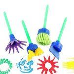 16 Pièces Mini Peinture Mousse Éponge Brosse Outils Pour Enfants Peinture D'apprentissage Rouleau Éponge Brosses Fleur Peinture Brosses de la marque Log-Cabin image 2 produit