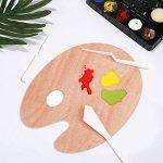2 Pièces Palettes de Peinture en Bois Palette Ovale Palette de Peinture Acrylique à l'Huile (30 x 24 cm) de la marque Shappy image 4 produit