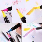 20 Feutres à Pointe Fine et Couple de Coloriage pour les Enfants et les Adultes, 20 Couleurs Uniques Aquarelle Stylo Feutre + une Feutre à Eau Idéal pour la Calligraphie, le Dessin de Précision, l'Écriture, BD, Manga. de la marque MUIFA image 3 produit