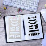 20 pochoir bullet journal plus de 1000 différents modèles de plastique Planner DIY modèle de dessin 10,2 x 17,8 cm pochoir peinture pour la carte scrapbooking et projets artistiques de la marque Smallones image 1 produit