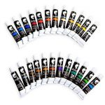 24 tubes de peinture acrylique Zenacolor - Pack de 24 x 12mL - Peinture acrylique de qualité supérieure et non toxique - 24 Couleurs uniques et différentes - Idéal pour débutant ou professionnel - Pigments riches et sèche rapide - Facile à peindre sur can image 2 produit