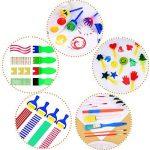 25 Pièces Pinceaux de Peinture Éponge Set Outils de Dessin d'Apprentissage Précoce d'Enfant pour Bricolage Arts Artisanat, Couleurs et Formes Assorties de la marque Hicarer image 6 produit