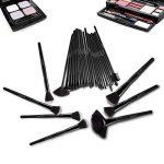32 Set Pinceaux Maquillage Professionnel USpicy & Pochette de Voyage Haut de Gamme, Fibres Synthétiques Souples, Makeup Brushes Complet Soyeux et Facile pour Tous Types de Maquillage, Cadeau de la marque USpicy image 3 produit