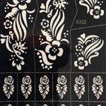 . 4pochoirs Sheets Tattoo Body Art Mehndi henné Designs Kit Dehli d'action pour körpet peints de la marque Beyond Paradise image 2 produit