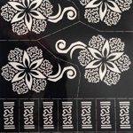 4pochoirs Sheets Tattoo Body Art Mehndi henné Designs Kit Taj pour körpet peints de la marque Beyond Paradise image 1 produit