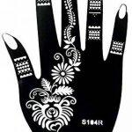 5 Feuilles Mehndi Tatouage Pochoir pour la main Set H Mehndi Tatouages au henné - pour tatouage au henné, tatouage paillettes et aérographe tatouage de la marque Beyond Paradise image 2 produit