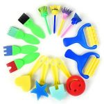 53 PCS Éponge Peinture Pinceaux Set Enfants Début d'Apprentissage des Outils de Dessin 52 PCS Éponge Brosses + Palette Pinceaux de Peinture pour L'artisanat Bricolage Arts, Couleurs et Formes Assorties (53PCS) de la marque uniquQ image 3 produit