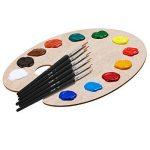 6 Pièces Pinceau de Détail pour l'aquarelle et Acrylique Toile (Noir) de la marque eBoot image 4 produit