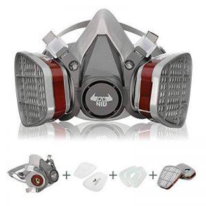 6200 N95 Double Masque à Gaz DANIU Masque Respiratoire de Protection/Filtre de Protection Chimique Antipoussière Réutilisable à Demi-visage, pour Travail dans la Pulvérisation/Peinture de la marque DANIU image 0 produit