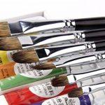 6Pcs Mongoose Filbert cheveux bouleau manche en bois brosse ensemble pour aquarelle, peinture acrylique et Liner, 6 tailles pour les enfants nouveaux apprenants peintres professionnels de la marque GP image 4 produit