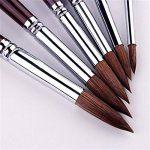 6Pcs Pinceau de peinture à pointe ronde Brosse de peinture Sable Hair Artist de la marque GP image 1 produit