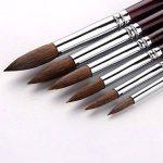 6Pcs Pinceau de peinture à pointe ronde Brosse de peinture Sable Hair Artist de la marque GP image 2 produit