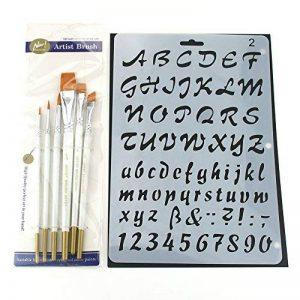 7pcs Pochoirs et 6pcs Ensemble de pinceaux, kit de modèle de peinture pour le scrapbooking Craft artistes de la marque XIUJUAN image 0 produit