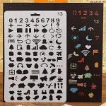 7pcs Pochoirs et 6pcs Ensemble de pinceaux, kit de modèle de peinture pour le scrapbooking Craft artistes de la marque XIUJUAN image 2 produit