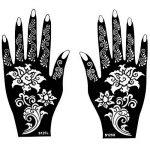 8 Feuilles Mehndi Tatouage Pochoir pour la main Mehndi Tatouages au henné Set 4 à usage unique - pour tatouage au henné, tatouage paillettes et aérographe tatouage de la marque Beyond Paradise image 4 produit