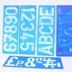 8pièces de pochoirs pour peinture 36x10cm Lettres, chiffres et symboles de ponctuation de la marque ToolUSA image 1 produit