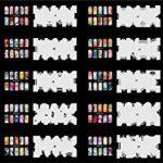 ABEST Réutilisable Airbrush Nail Art pochoir - STENCIL 20N de la marque BESTA image 1 produit