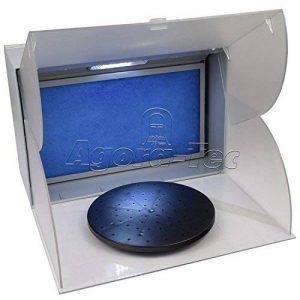 Agora-Tec ® Airbrush Cabine anti-éclaboussures Système d'aspiration at-01Ask avec 4,3m³ Puissance d'aspiration à seulement 52DB avec éclairage et plateau tournant comme accessoires et lackierka Bine pour aérographe Modélisme et lackierar beite image 0 produit