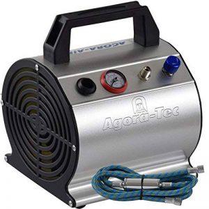 Agora-Tec ® at Aérographe Compressor at-03, compresseur AC pour applications Airbrush avec 3,1Bar et réservoir 20L/min + 0.3L, avec Condensation Filtre, régulateur de pression, 1,9m de tuyau et manomètre de la marque Agora-Tec image 0 produit