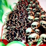 "'Airbrush parfaite pochoirs Skulls facile: ""BLOOD Candy aka Field of Skulls VOL. 03, dimensions env. A4, Single/Quick Step EZ skullmaker artshield® de la marque SCHNEIDMEISTER image 2 produit"