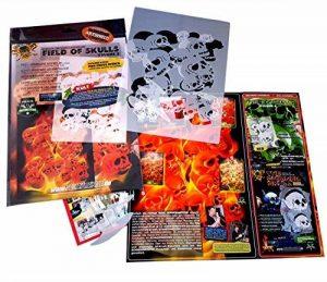 """'Airbrush parfaite pochoirs Skulls facile: """"Fire Stack (Field of Skulls VOL. 02), Single pour/Quick Step EZ skullmaker artshield de la marque SCHNEIDMEISTER image 0 produit"""