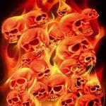 """'Airbrush parfaite pochoirs Skulls facile: """"Fire Stack (Field of Skulls VOL. 02), Single pour/Quick Step EZ skullmaker artshield de la marque SCHNEIDMEISTER image 2 produit"""