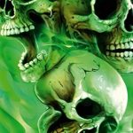 "'Airbrush parfaite pochoirs Skulls facile : ""The Wild Bunch (Field of Skulls VOL. 04), Single/Quick Step EZ skullmaker artshield de la marque SCHNEIDMEISTER image 2 produit"