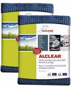 ALCLEAR 820901_2 Chiffon Microfibre Ultra Merveille du Séchage, Bleu Marine, 60x40 cm, Lot de 2 de la marque ALCLEAR image 0 produit