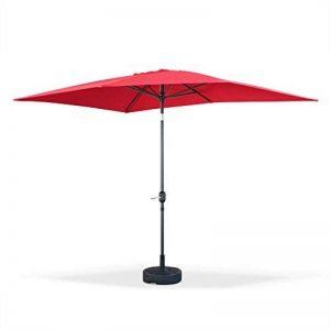 Alice's Garden - Parasol droit rectangulaire 2x3m - Touquet Rouge - mât central en aluminium orientable et manivelle d'ouverture de la marque Alice's Garden image 0 produit