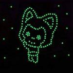 Alxcio Lot de 100 Autocollants Fluorescents 3D Sticker en Plastique pour Enfants Chambre Plafond Nuit étoilée bébé DIY Motifs Décoratifs Couleurs Assorties de la marque Alxcio image 1 produit