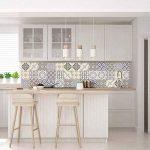 Ambiance-Live Carreaux de ciment adhésif mural - azulejos - 10 x 10 cm - 9 pièces de la marque Ambiance-Live image 1 produit