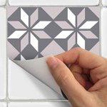 Ambiance-Live Carreaux de ciment adhésif mural - azulejos - 10 x 10 cm - 9 pièces de la marque Ambiance-Live image 2 produit