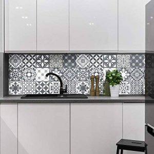 Ambiance-Live Carreaux de ciment adhésif mural - azulejos - 20 x 20 cm - 15 pièces de la marque Ambiance-Live image 0 produit
