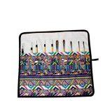 Amoyie trousse à crayon enroulable pour pinceaux de peinture, sacs organiseurs de toile, enveloppe de crayon porte-brosses pochettes rouleaux de la marque Amoyie image 2 produit