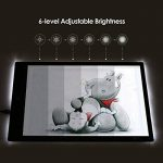 Amzdeal Tablette Lumineuse A4 avec 6 Niveaux Réglables de Luminosité LED 5mm Ultre-Mince avec Cable USB pour Croquis Esquisse Architecture Calligraphie de la marque Amzdeal image 4 produit