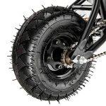 AnaellePandamoto Mini Vélo BMX Freestyle avec 3 Pièces Manivelle de 10 Pouce, Selle avec Hauteur Réglable pour Adulte, Taille: 79*73*69cm, Poids: 11kg (Noir) de la marque Panana image 5 produit