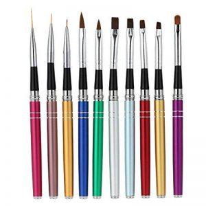 Anself Pro 10Pcs Nail Art Design Pinceaux à Stylo Set Polonaise Gel UV Nylon Peinture Outil Pinceau Nail Imprimer Kit Décoration de la marque Anself image 0 produit