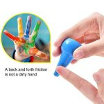 Anteel Peinture au Crayon, Doigt Crayons pour des Gamins, 12 Couleurs 3D Peindre Crayons pour les Enfants, les Garçons et les Filles, Sécurité de la marque Anteel image 3 produit