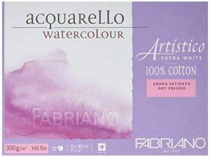 Aquarelle de 23 x 30,5 cm 20 4 AEW Extra blanc Satine de Grain de papier aquarelle Fabriano de la marque Fabriano image 0 produit