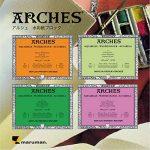 """'Arches 200177173Bloc aquarelle Rugueux, 300g/m², 20feuilles par bloc """"Bord gommé blanc 46x 61CM de la marque Unbekannt image 1 produit"""